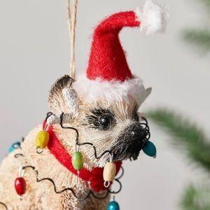 ❤️POTTERY BARN❤️Party Pug Christmas Ornament